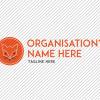 Predesigned Fox logo by Aga Grandowicz. Horizontal 1.