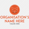 Predesigned Fox logo by Aga Grandowicz. Stacked 1.