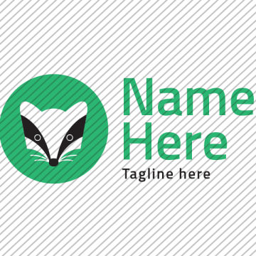 Predesigned Badger logo by Aga Grandowicz. Horizontal 1.