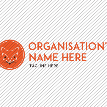 Predesigned Fox logo by Aga Grandowicz. Horizontal 1.