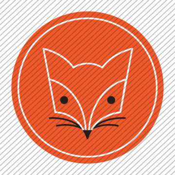 Predesigned Fox logo by Aga Grandowicz. Icon only.