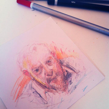 Series of 40 drawingsinspired by Kamila Dydyna's short film 'Testimony'.