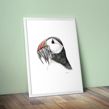 Puffin, #2 –original artwork